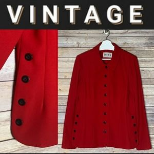 Red Blazer with black buttons